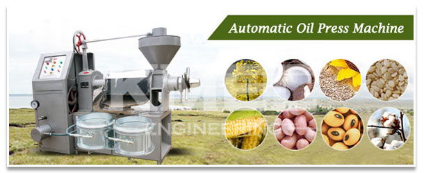 automatic oil press with filters