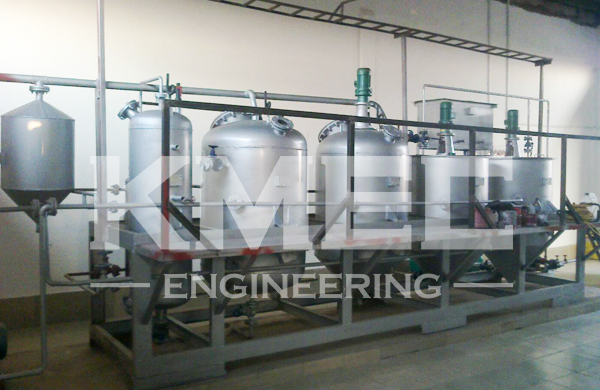 1TPD sunflower seed oil refinery line in Tanzania