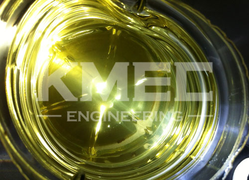 refined pure oil by   the small oil processing unit