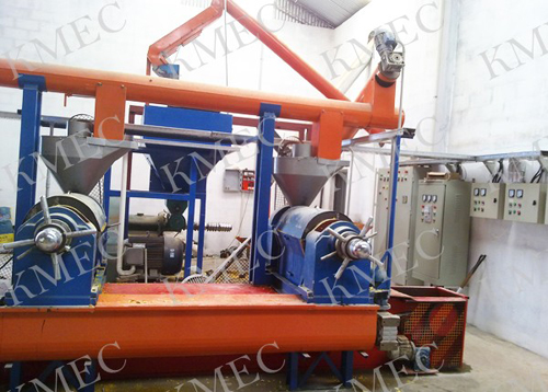 soybean extruding and pressing plant workshop