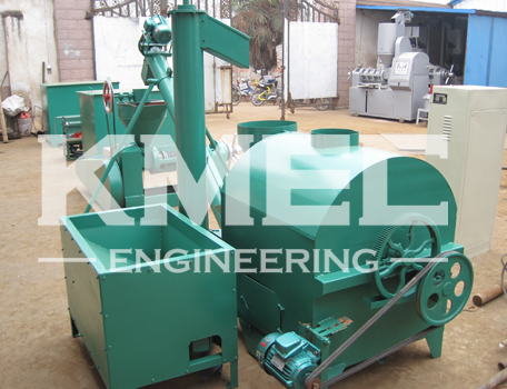 small oil press assembly line conected for soybean seed