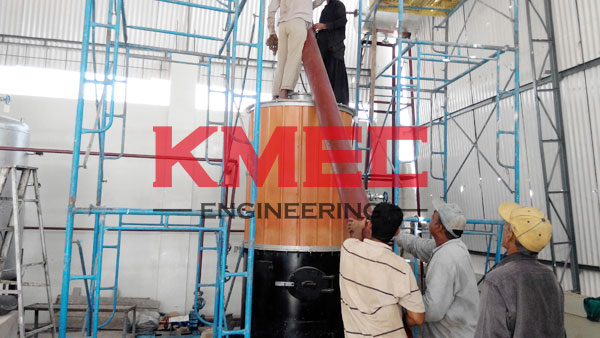 install the thermal oil furnace